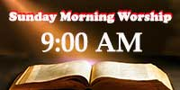 Worship Service at 9:00 AM